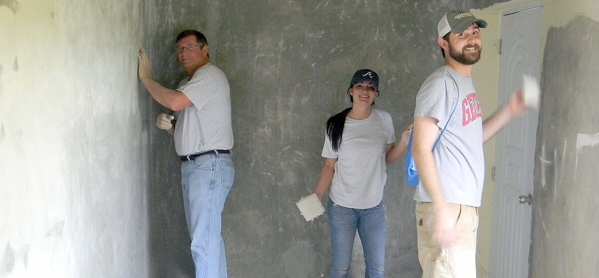 Members of the mission team from the SE Convocation working in a room in the high school building in El Carreton. The team arrived in the Dominican Republic on January 14, 2013, and returned to the United States on January 21.