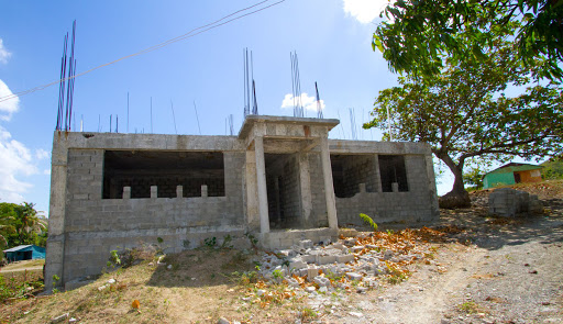 The unfinished high school building in Carreton, near the city of Bani west of Santo Domingo.