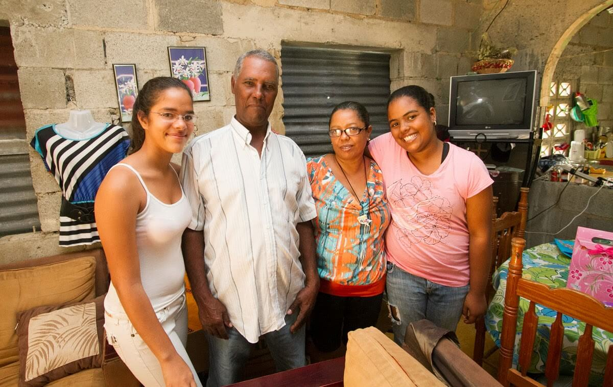 Moraima's family members who were at home during my visit in October 2013.