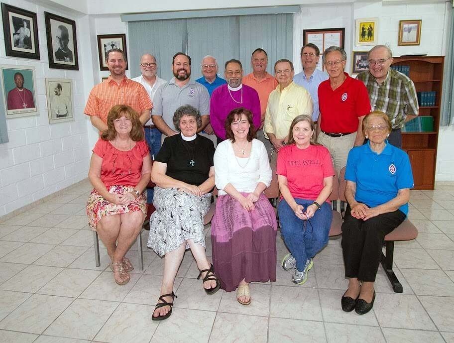 The Rev. Tar Drazdowski (front row, black shirt), representing Bishop Benhase and the Diocese of Georgia, at the board meeting of the Dominican Development Group in Santo Domingo on February 11, 2013.
