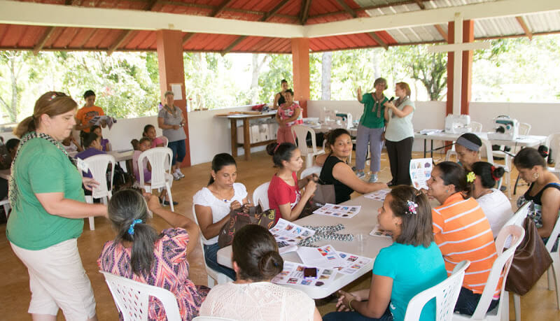 A fabric arts class session. Click this image to see more photographs from this trip.