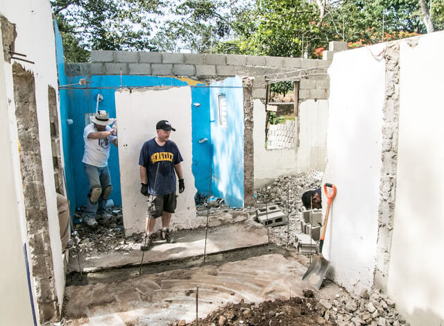 Construction work on the day care center. Click this image to see more photographs from this trip.