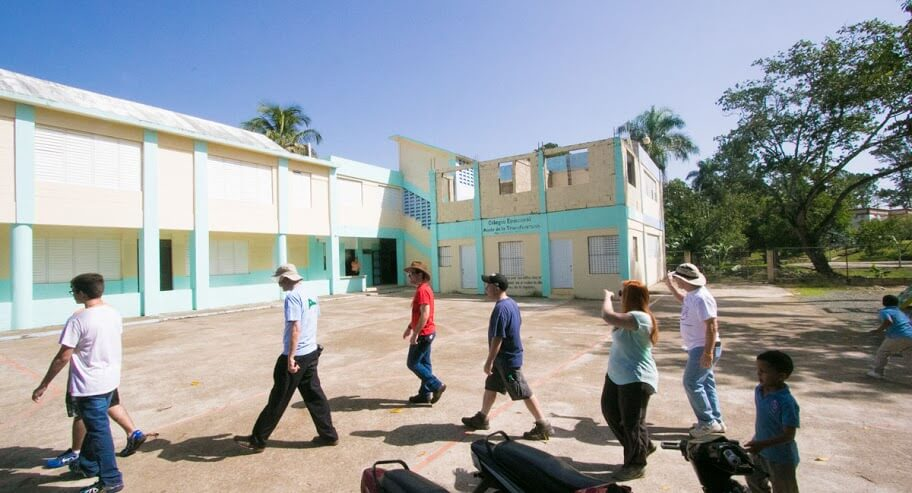 In the background: the Episcopal K-8 school. Click this image to see more photographs from this trip.