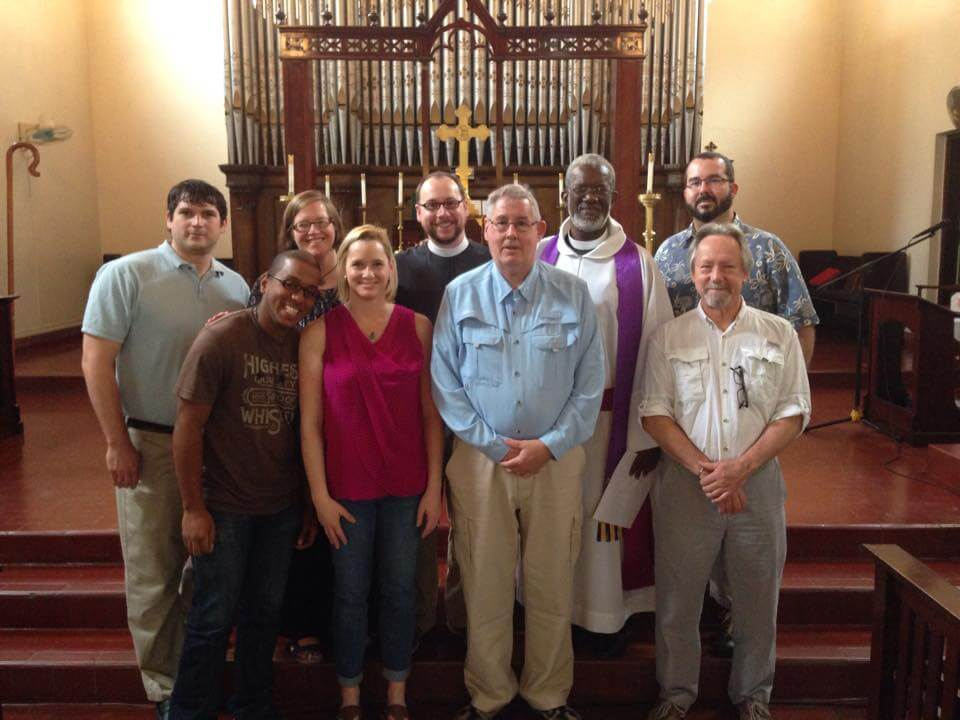 The members of the St. Anne's mission team in Epiphany Cathedral in Santo Domingo on Sunday, March 8.