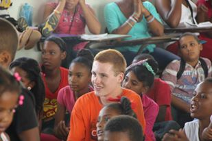 A missioner in a VBS session.