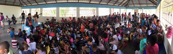 One of the VBS sessions conducted by the Diocesan Youth Team.