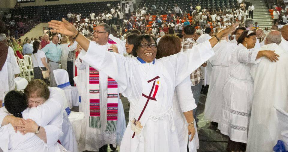 In the Dominican Episcopal Church, Passing the Peace is always an exuberant, prolonged activity.