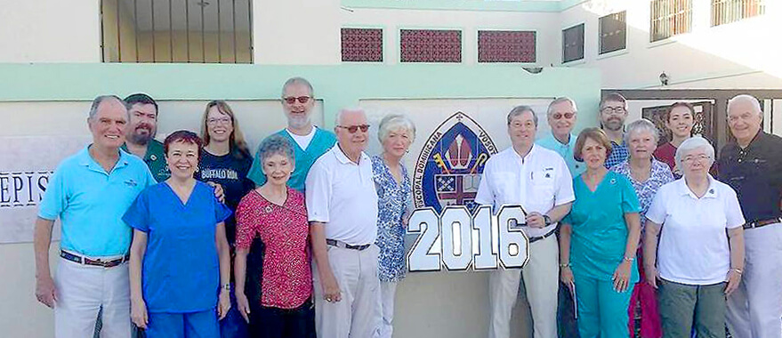 The optical clinic team from St. Peter's (Savannah) at the Episcopal conference center in San Pedro de Macorís.